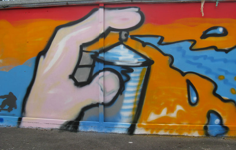 graffiti ideen moos graffiti selber machen w nde. Black Bedroom Furniture Sets. Home Design Ideas